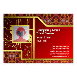 Red and Yellow Pattern Small Pack Of Chubby Business Cards