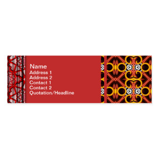 Red and Yellow Pattern Small Pack Of Skinny Business Cards