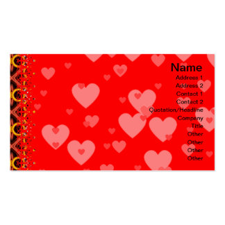 Red and Yellow Pattern Small Pack Of Standard Business Cards