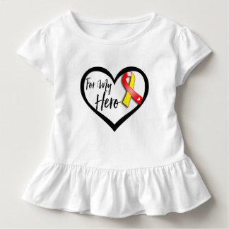 Red and Yellow Ribbon For My Hero Shirt