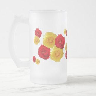 Red and Yellow Rose Blooms mug