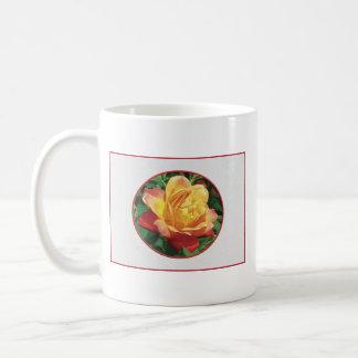 Red and yellow Rose Mug