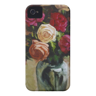 Red and Yellow Roses in Reflective Vase Case-Mate iPhone 4 Case