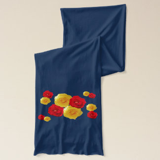 Red and Yellow Roses Scarf