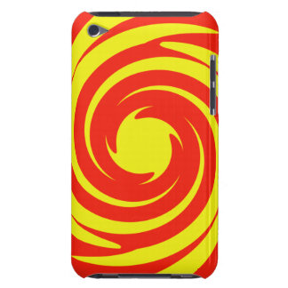 Red and yellow swirl iPod Case-Mate cases