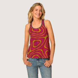 Red and Yellow Swirly Top - all over pattern