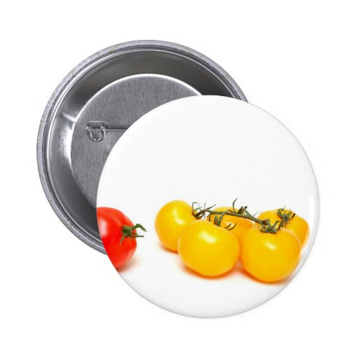 Red And Yellow Tomato Pinback Button