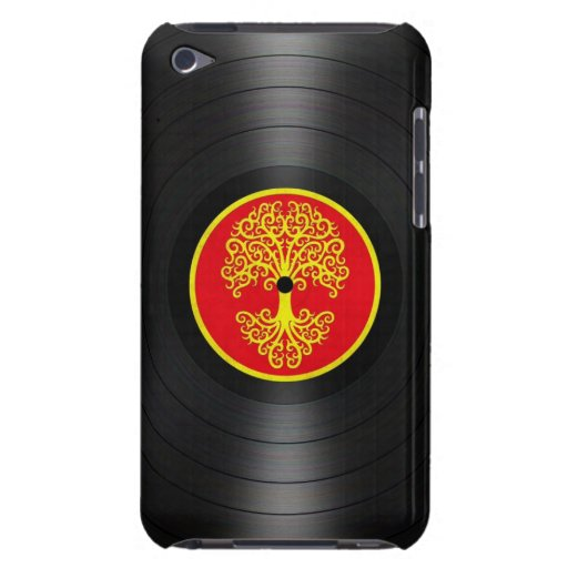 Red and Yellow Tree of Life Vinyl Record Graphic iPod Case-Mate Case
