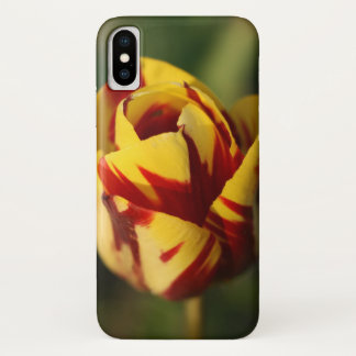 Red and Yellow Tulip Flower iPhone X Case