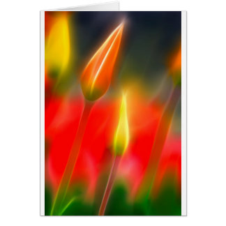 Red and Yellow Tulip Glow Card