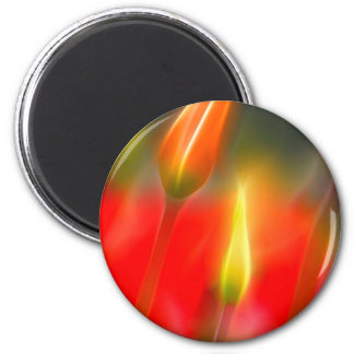 Red and Yellow Tulip Glow Magnet