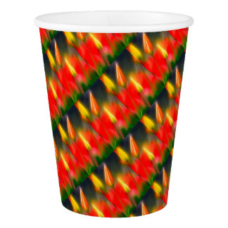 Red and Yellow Tulip Glow Paper Cup