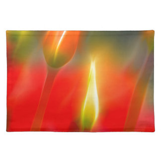 Red and Yellow Tulip Glow Placemat