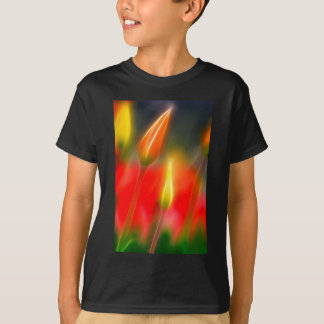 Red and Yellow Tulip Glow T-Shirt