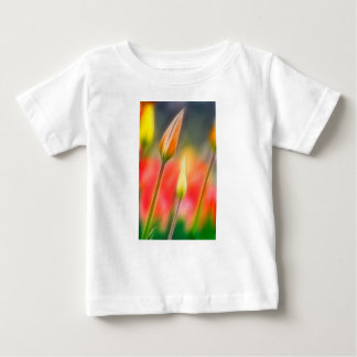 Red and Yellow Tulip Sketch Baby T-Shirt