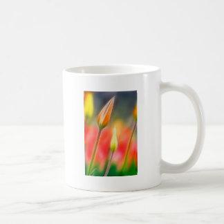 Red and Yellow Tulip Sketch Coffee Mug