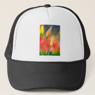Red and Yellow Tulip Sketch Trucker Hat