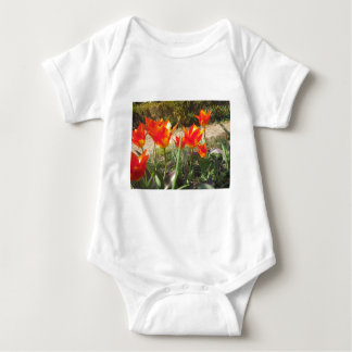 Red and Yellow Tulips Baby Bodysuit