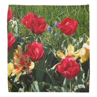Red And Yellow Tulips Bandana