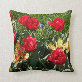 Red And Yellow Tulips Cushion