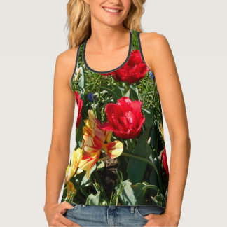 Red And Yellow Tulips Singlet