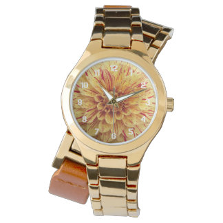 Red and Yellow Variegated Dahlia Floral Watch