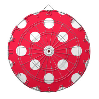 Red andd white polka dots dart boards
