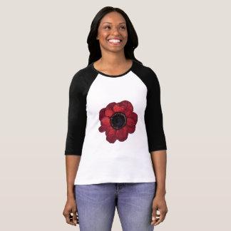 Red anemone Raglan T-Shirt