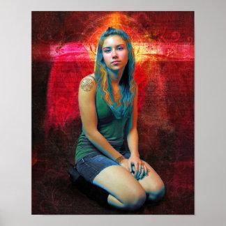 Red Angel Print