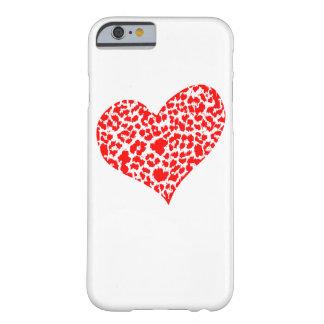 Red Animal Heart Print Phone Case