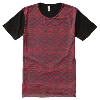 Red Animal Pattern#48a American Apparel Buy Online All-Over Print T-Shirt