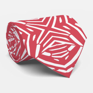 Red Animal Pattern Modern Designer tie