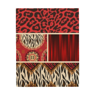 Red Animal Print and Patterns Collage
