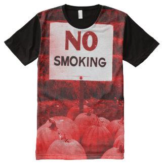Red Anti-Smoking Pumpkins All-Over Print T-Shirt