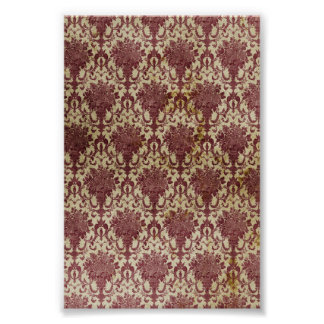 Red Antique Wallpaper Poster