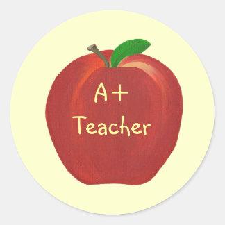 Red Apple, A+ Teacher stickers