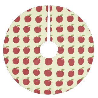 red apple brushed polyester tree skirt