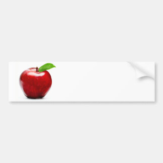 Red Apple Bumper Sticker