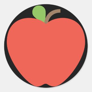Red Apple Emoji Classic Round Sticker