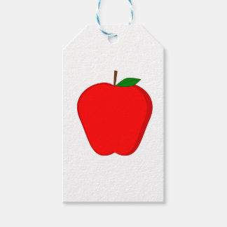 Red Apple Gift Tags