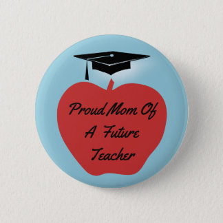 Red Apple Graduation Teacher 6 Cm Round Badge