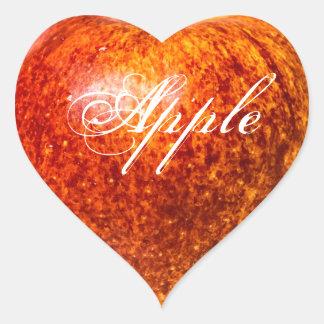 Red apple heart sticker