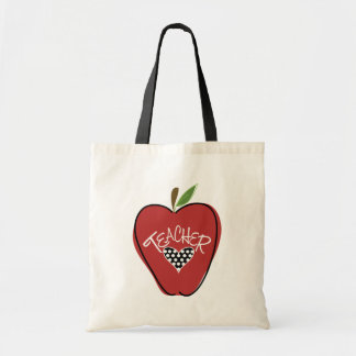 Red Apple & Heart Teacher Bag