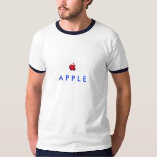 red-apple-logo, A P P L E Tshirt