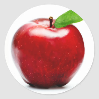 Red Apple (pack of 6/20) Round Sticker