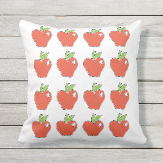 Red Apple Pattern Outdoor Cushion