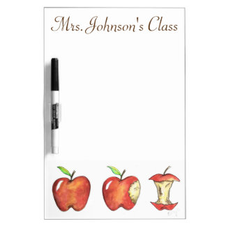 Red Apple Personalized School Class Teacher Gift Dry-Erase Whiteboards
