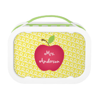 Red Apple Personalized Teacher's Lunch Box