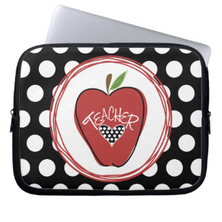 Red Apple & Polka Dot Laptop Sleeve