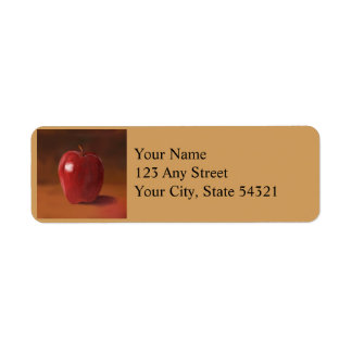Red Apple Still Life Return Address Labels